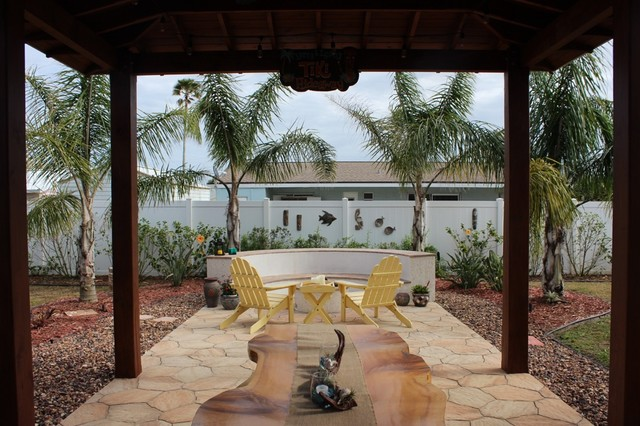 Beachside Backyard Pavillion Coastal Patio Orlando