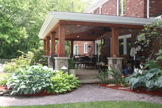 Beautiful Covered Patio Cleveland Rustic Patio