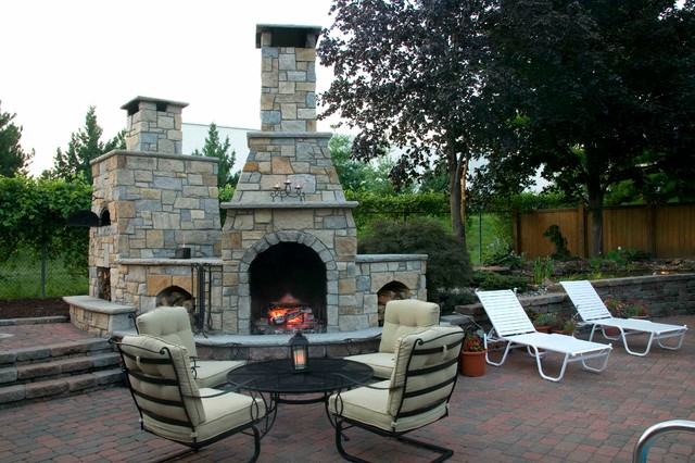 Beautiful Outdoor Living Space In Shawnee KS - Traditional - Patio - Kansas City - By Stone ...