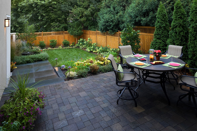 Example Of A Trendy Backyard Patio Design In Minneapolis