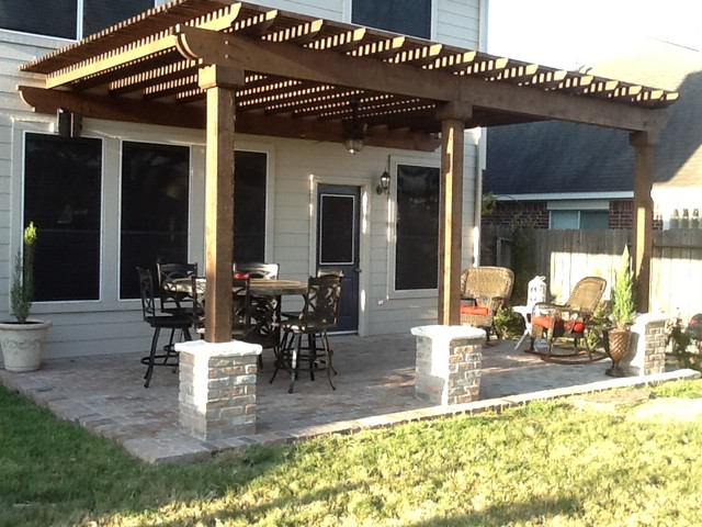 Before And After Traditional Patio Houston By