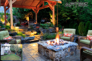 Before & After traditional-patio