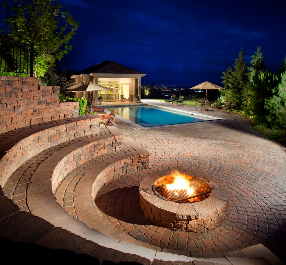 Patio - traditional brick patio idea in New York with no cover