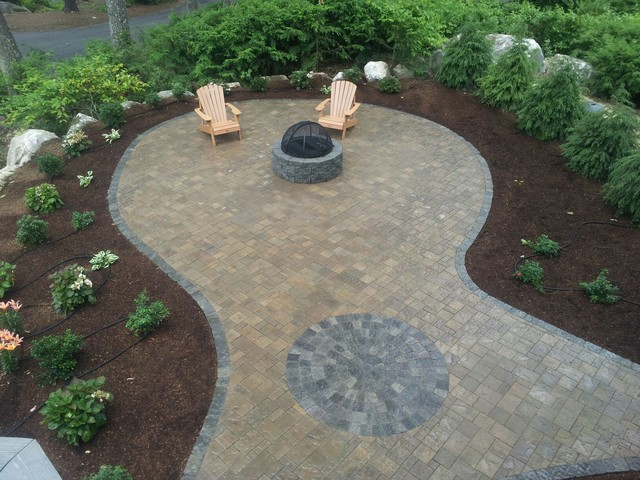Belgard Patio And Fire Pit Contemporary Patio