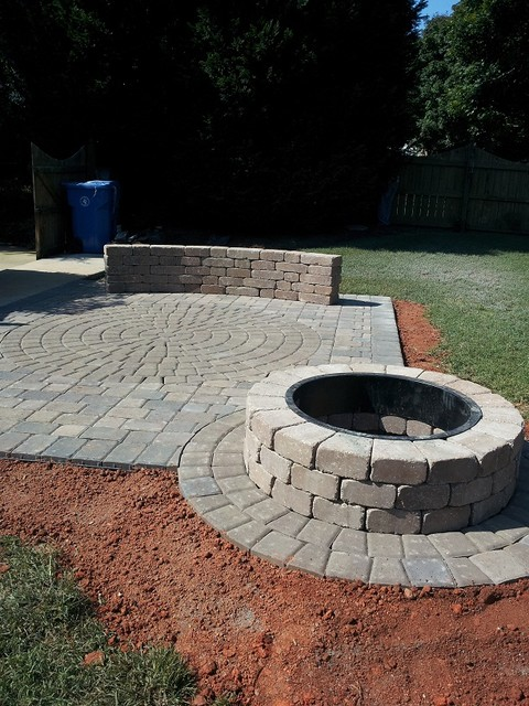Belgard Paver, Wall & Fire Pit on Pavers Patio With Fire Pit id=35157