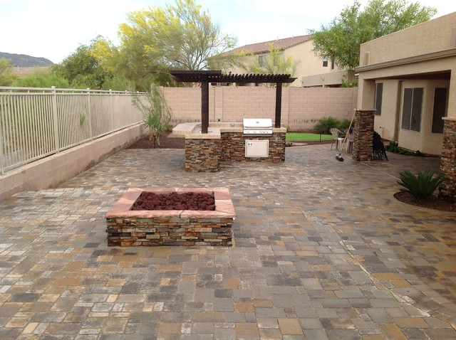 Belgard Pavers Back Yard Patio contemporary-patio - Belgard Pavers Back Yard Patio - Contemporary - Patio - Phoenix - By