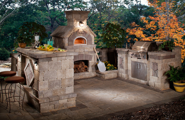 Belgard Wexford Pizza Oven And Outdoor Grill Collection Traditional Patio