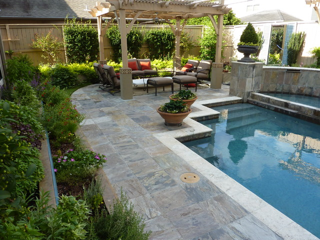 Bellaire Pool and Landscape mediterranean-patio