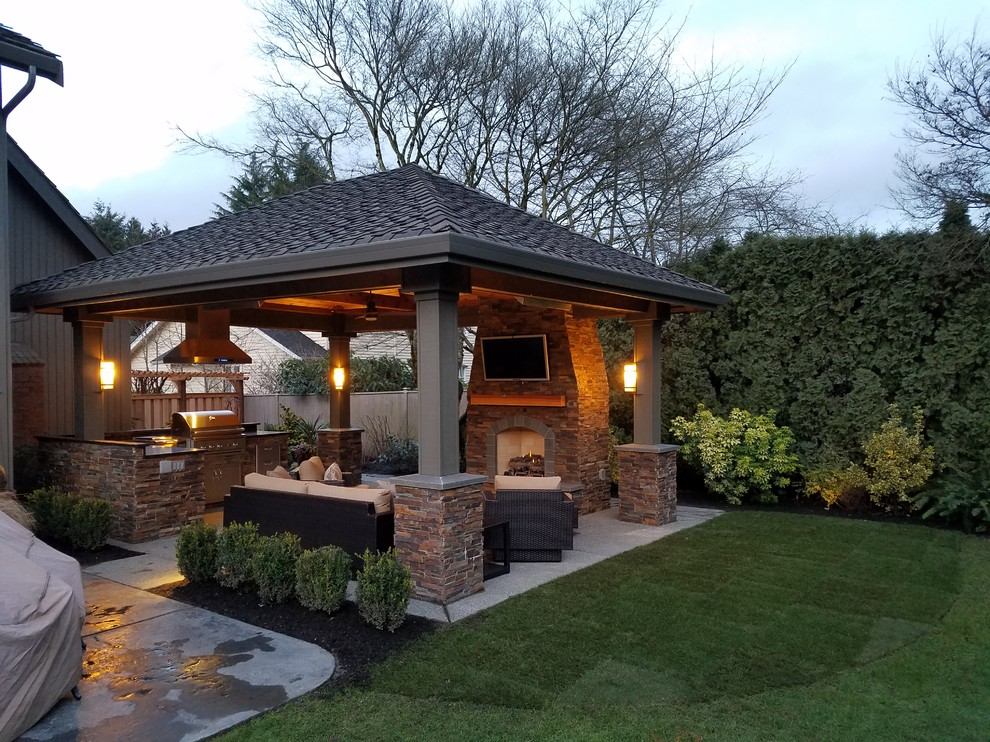 Bellevue Outdoor Living - Transitional - Patio - Seattle ... on Urban Living Outdoor id=95622