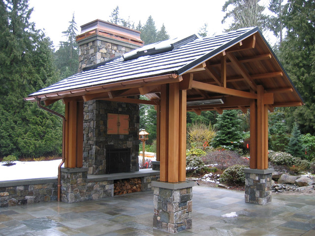 Bellevue residence outdoor pavilion traditional patio for Outdoor pavilion plans