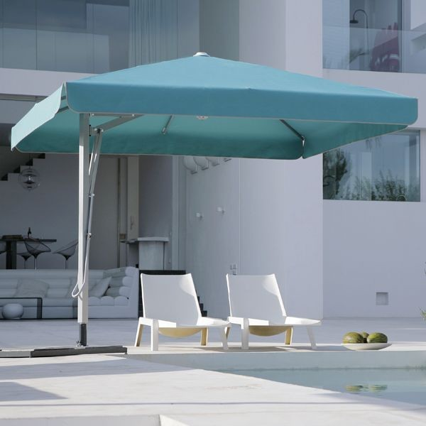 Beautiful Belvedere Square Offset Outdoor Umbrella Modern Patio