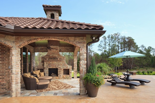 Benders Landing Spring Tx Mediterranean Patio Houston By Morning Star Builders Ltd