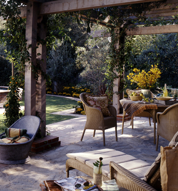 Berkshire Pool House eclectic patio
