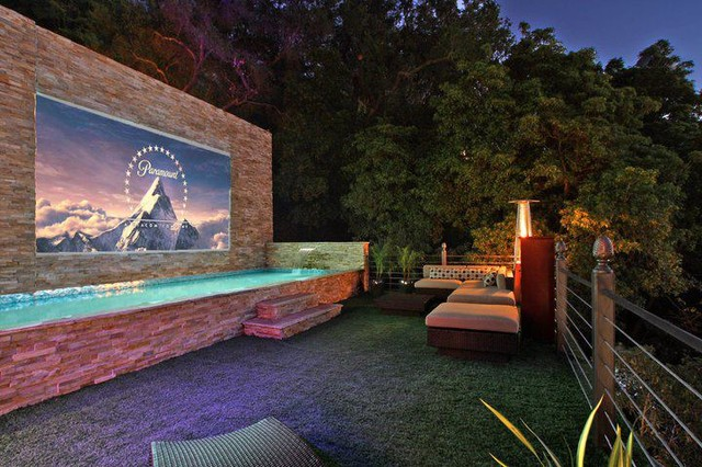 beverly crest outdoor projector beverly hills contemporary patio