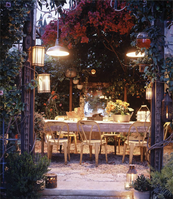 beverly drive - outdoor dining room eclectic-patio
