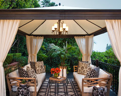 Hollywood Hills Residence transitional-patio