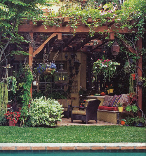mediterranean patio gardening outdoor