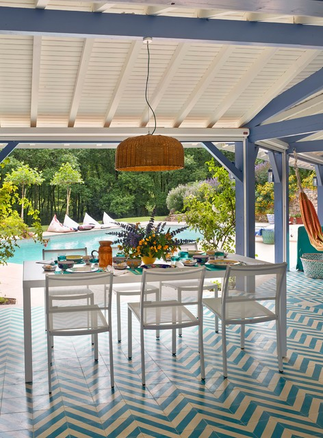 biarritz bord de mer terrasse et patio madrid par melian randolph. Black Bedroom Furniture Sets. Home Design Ideas