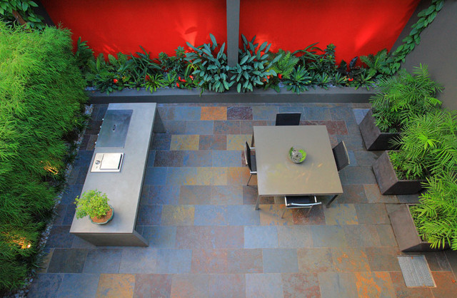 Birchgrove Courtyard Contemporary Patio Sydney By