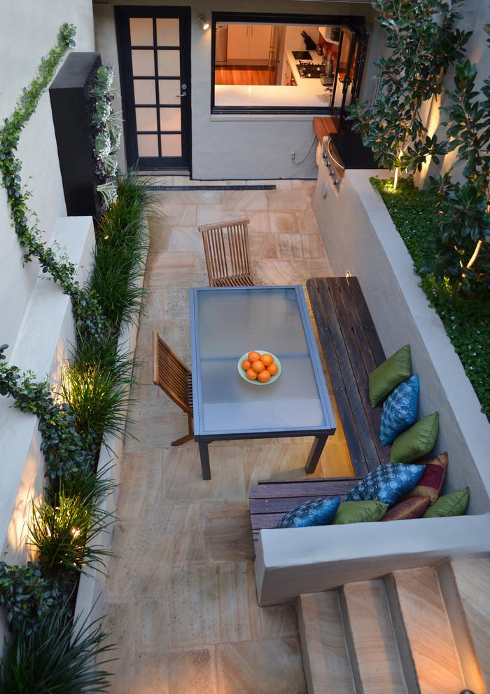 Example of a small trendy courtyard patio vertical garden design in Sydney