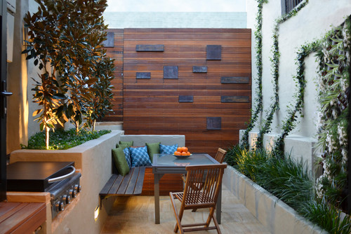 Contemporary Patio by Sydney Landscape Architects & Designers Outhouse Design