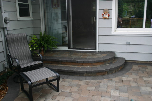 Bloomington Back Yard Patio Project traditional-patio