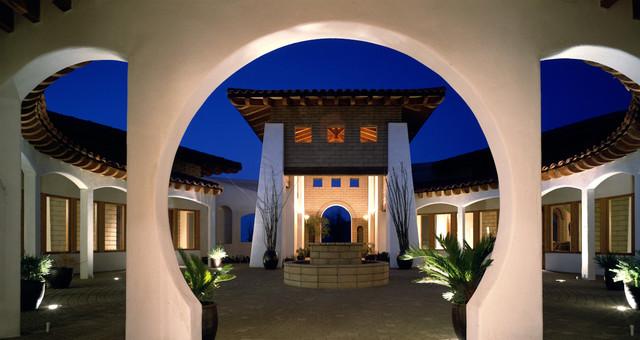 Blue House mediterranean-patio