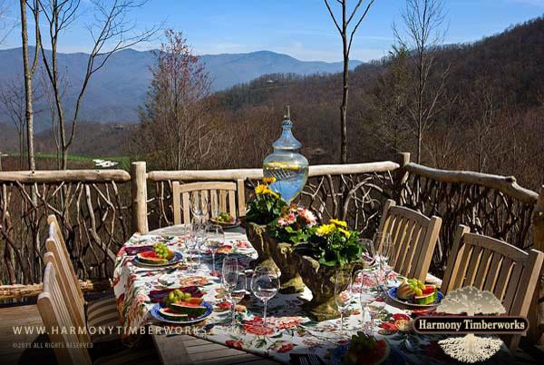 Blue Ridge Mountian Home rustic-patio