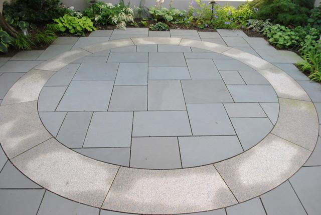 Bluestone and Granite Patio traditional-patio