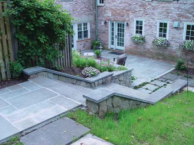 Bluestone backyard traditional patio baltimore by for Bluestone porch