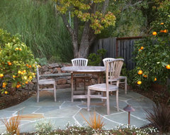 Paths, patios, fire pits eclectic-patio