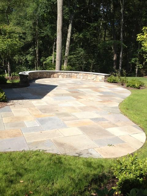 Bluestone Walkway, Patio & Landscaping in Concord, MA traditional-patio