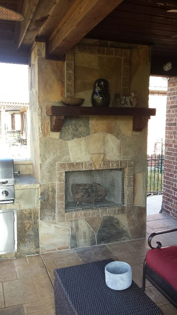 BMR Pool And Patio Fireplaces Rustic Patio