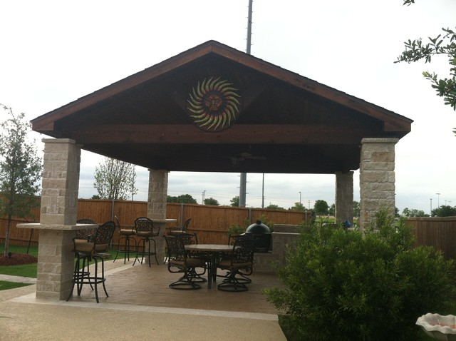 ... Bmr Pool Patio By Bmr Pool And Patio Patio Covers Rustic Patio Dallas  ...
