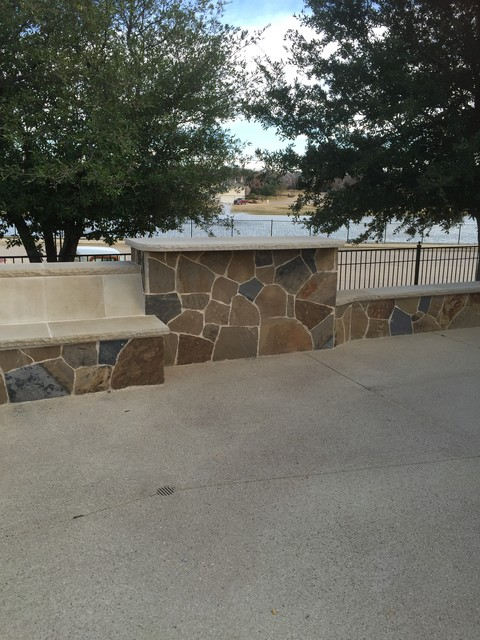 BMR Pool And Patio Stonework Rustic Patio