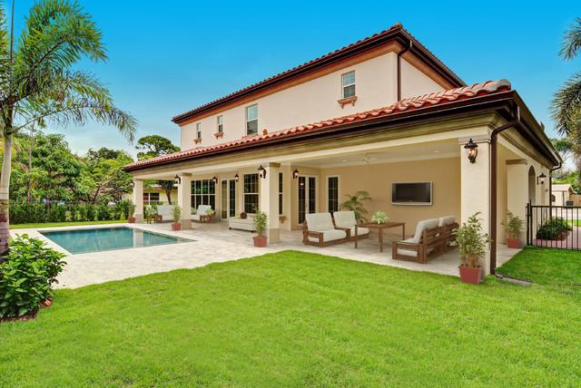 Boca Raton Florida Custom Spanish Style Residence Mediterranean Patio M