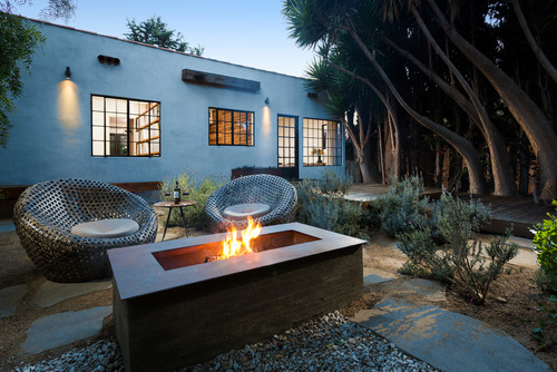 contemporary patio Fire Pit, Hot Tub, Or... Both?