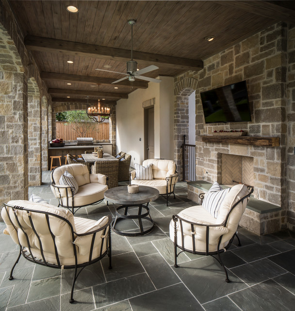 Bordley 2 Traditional Patio Houston By Thompson Custom Homes