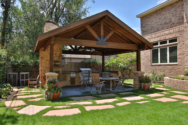 Braeswood Place Outdoor Covered Patio, Outdoor Covered Patio