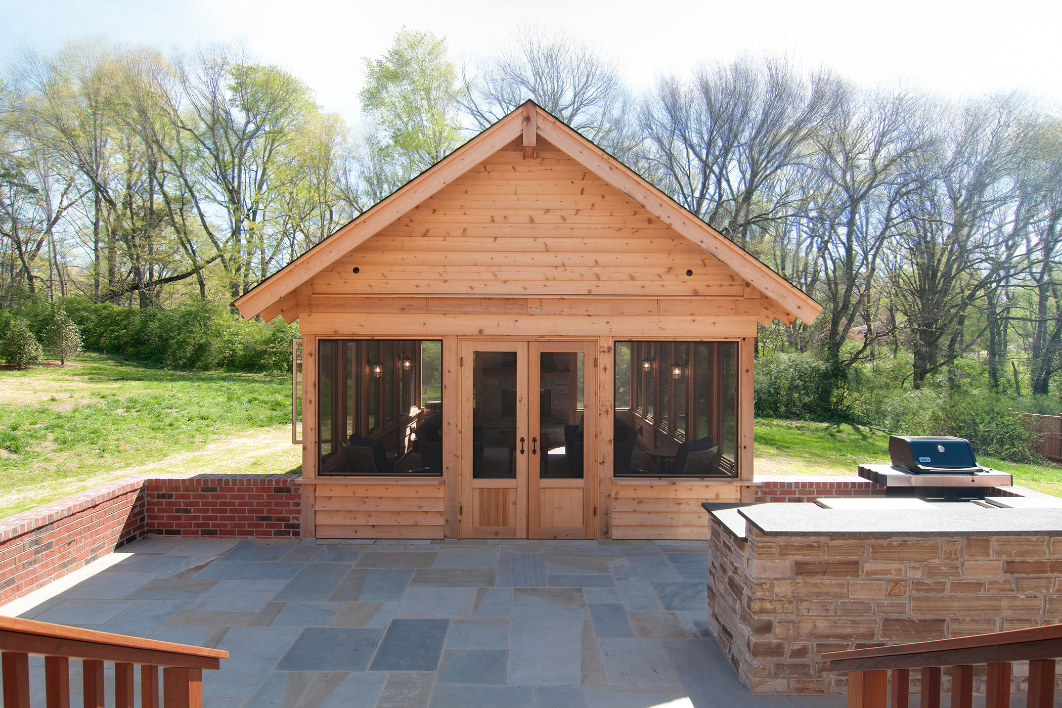 Brentwood Outdoor Kitchen/Sunroom