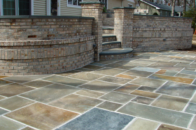 Brick And Bluestone Patio Melville Ny Traditional