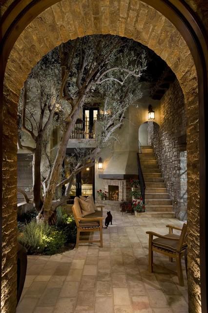 Brick Archway Mediterranean Patio By Eldorado Stone