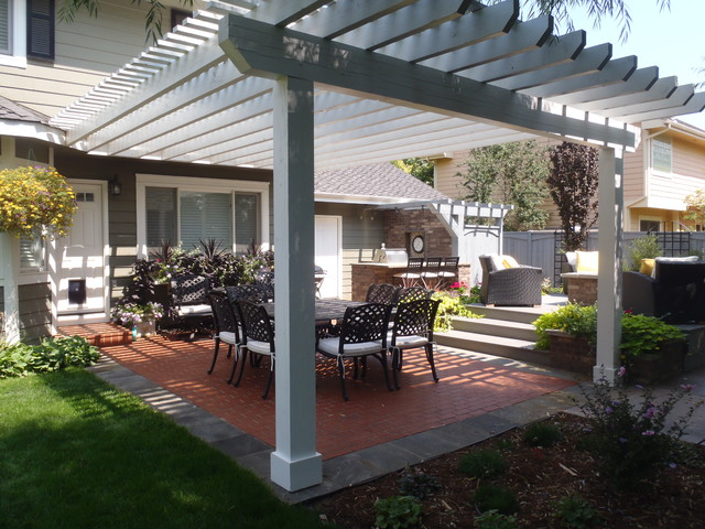 Brick Patio Pergola Fort Collins Co Modern Patio Denver By Alpine Gardens