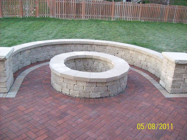Brick Pavers On UNIBASE System, Lifetime Warranty Traditional Patio