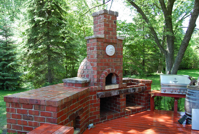 ... Garden Design With Brick Pizza Oven Traditional Patio Chicago By ADV  MASONRY With Backyard Pizza Oven