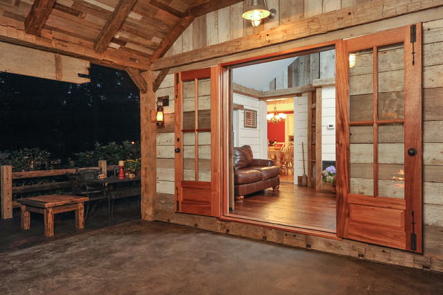 Bring the inside out rustic-patio