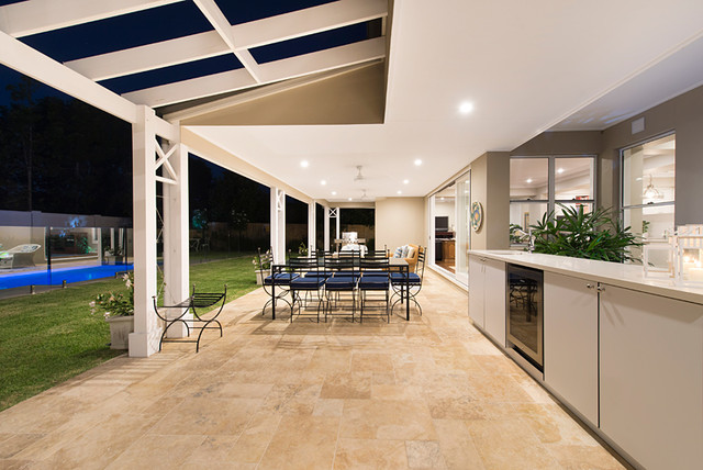 This is an example of a traditional patio in Brisbane.