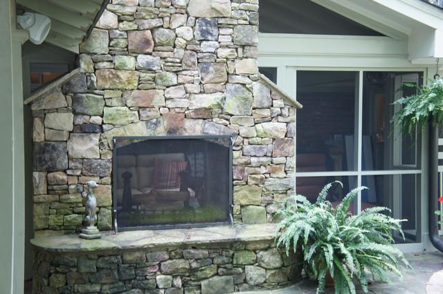 Brookhaven Renovation rustic-patio
