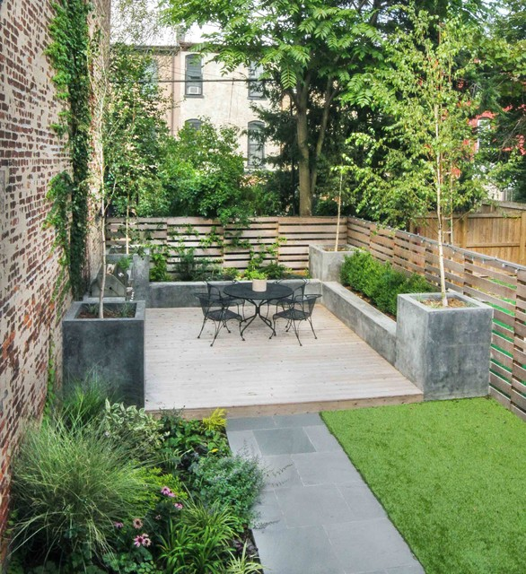 brooklyn garden playground modern patio new york