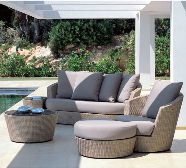 Brown Wicker Sofa and Lounge  Contemporary  Patio  by Home